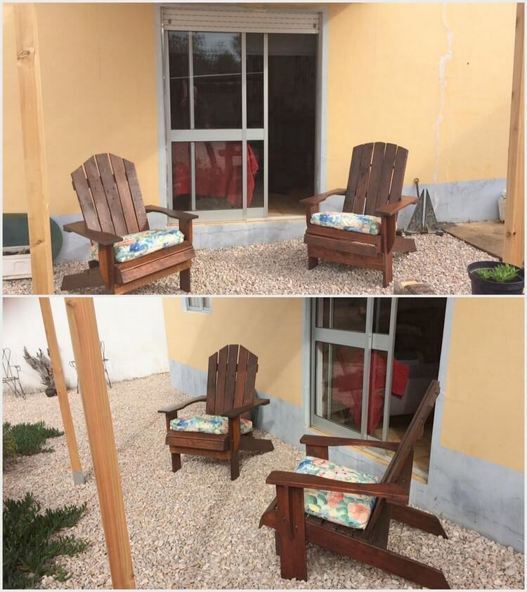 Pallet Patio Adirondack Chairs