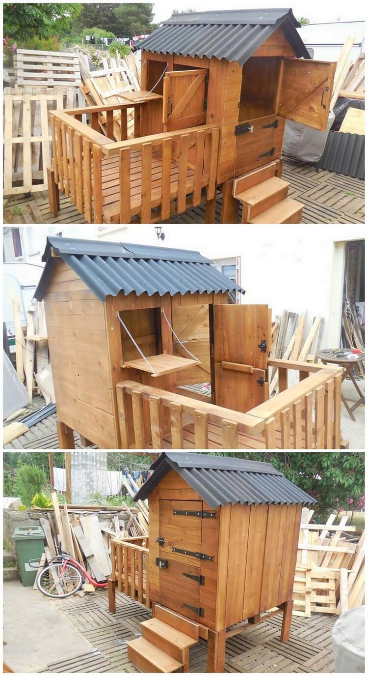 Pallet Patio Cabin - Playhouse
