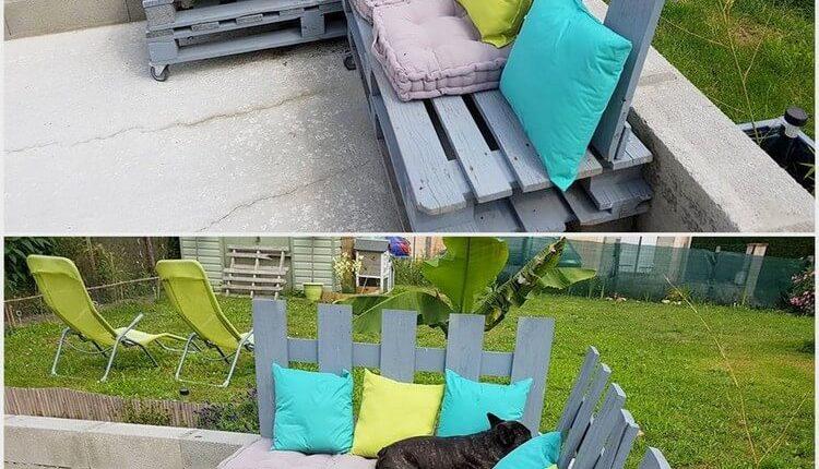 Pallet Patio Corner Couch