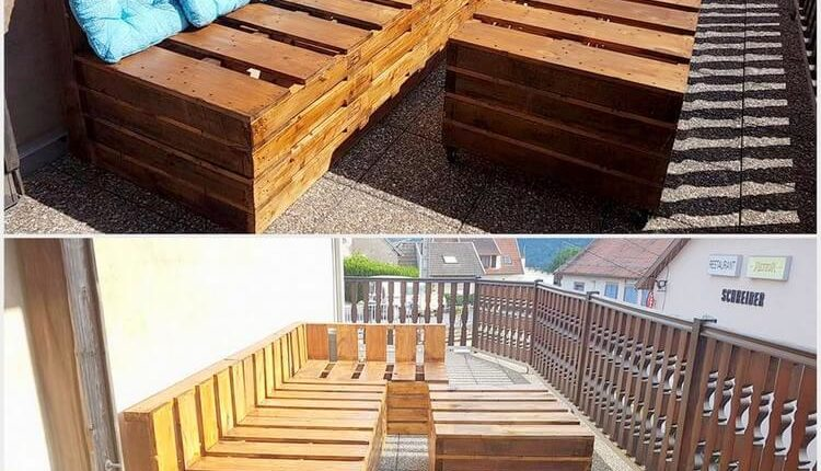 Pallet Patio Couch with Table