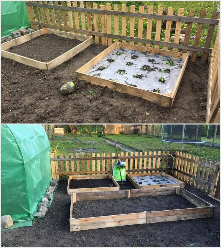 Pallet Wood Raised Garden Bed: 80 Easy Wooden Pallet Ideas For This Summer
