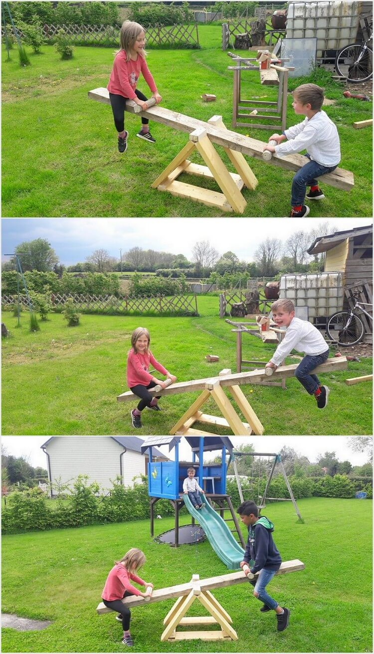 Pallet Sea Saw Game for Kids