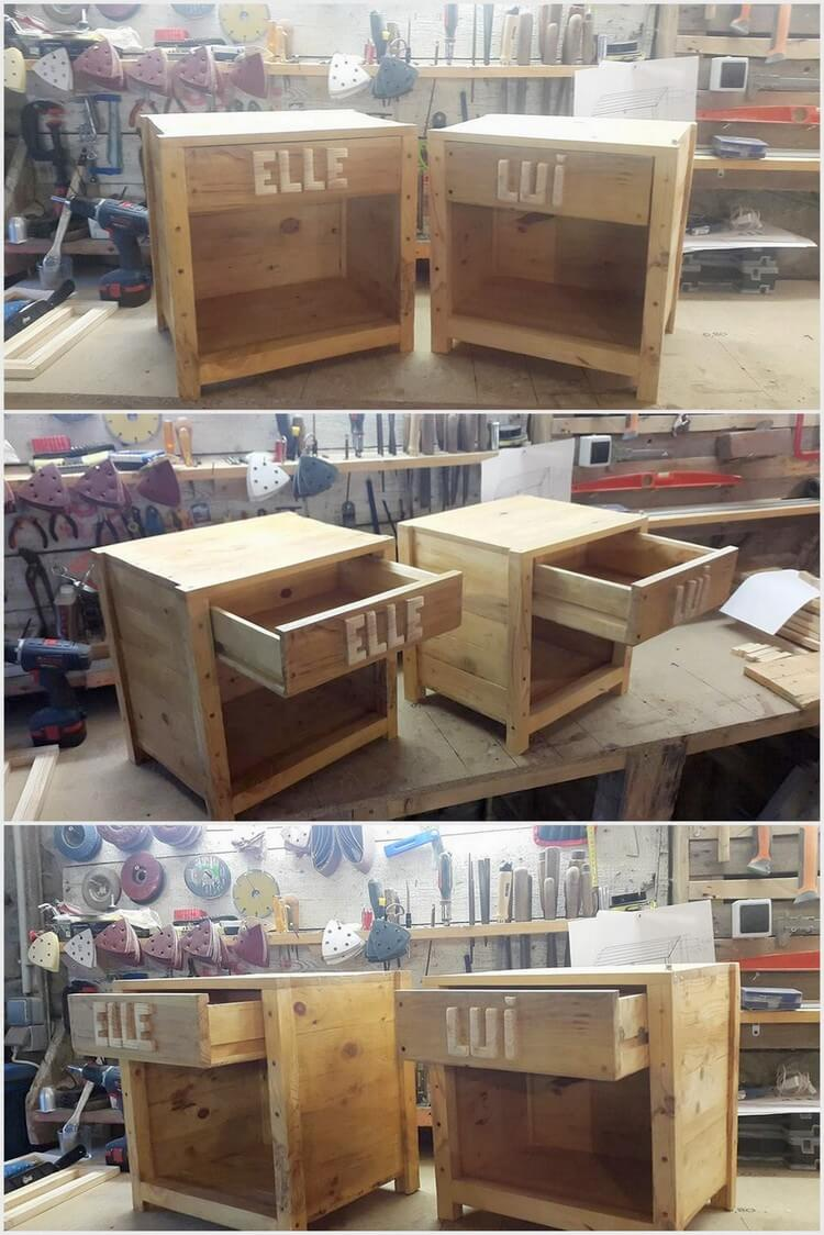 Pallet Side Table - Night Stands
