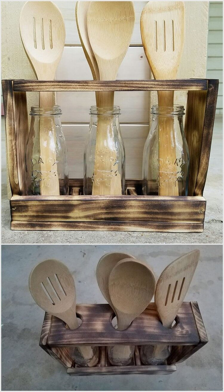 Pallet Spoon Holder