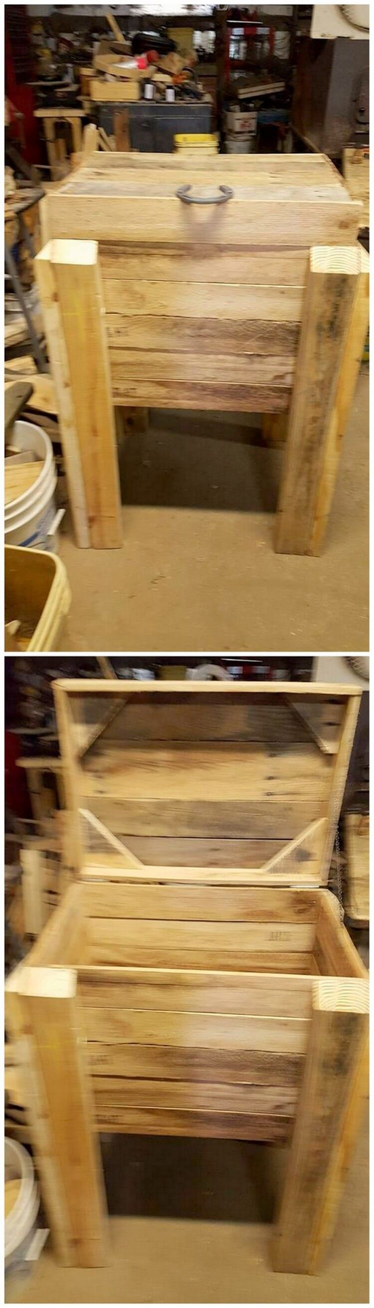 Pallet Storage Box with Legs