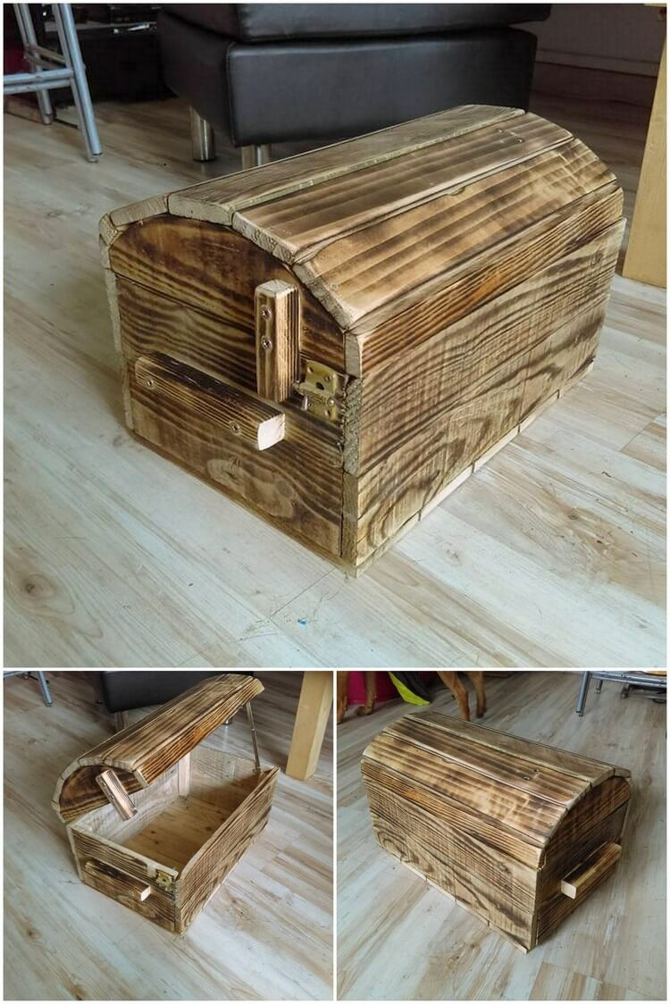 Creative diy pallet ideas to try out this weekend pallet for Pallet wood storage box