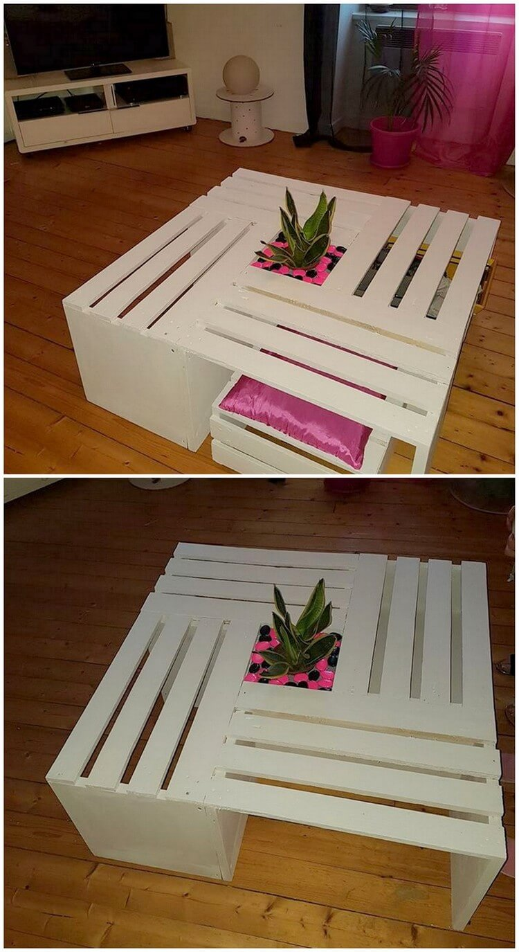 Pallet Table and Seat