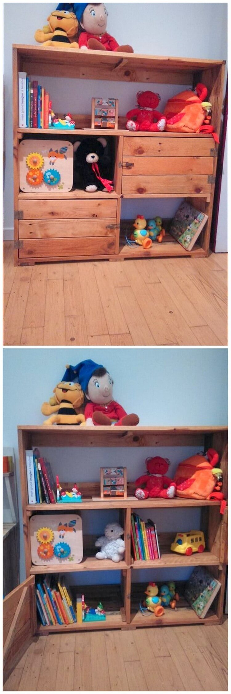 Pallet Toy Storage Shelf