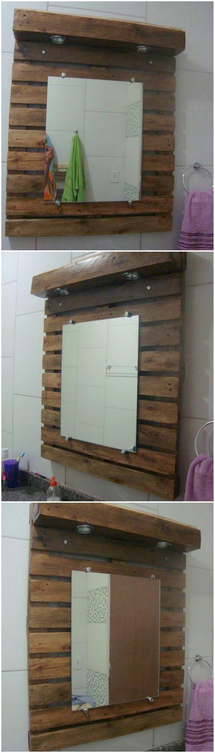 Pallet Vanity Mirror