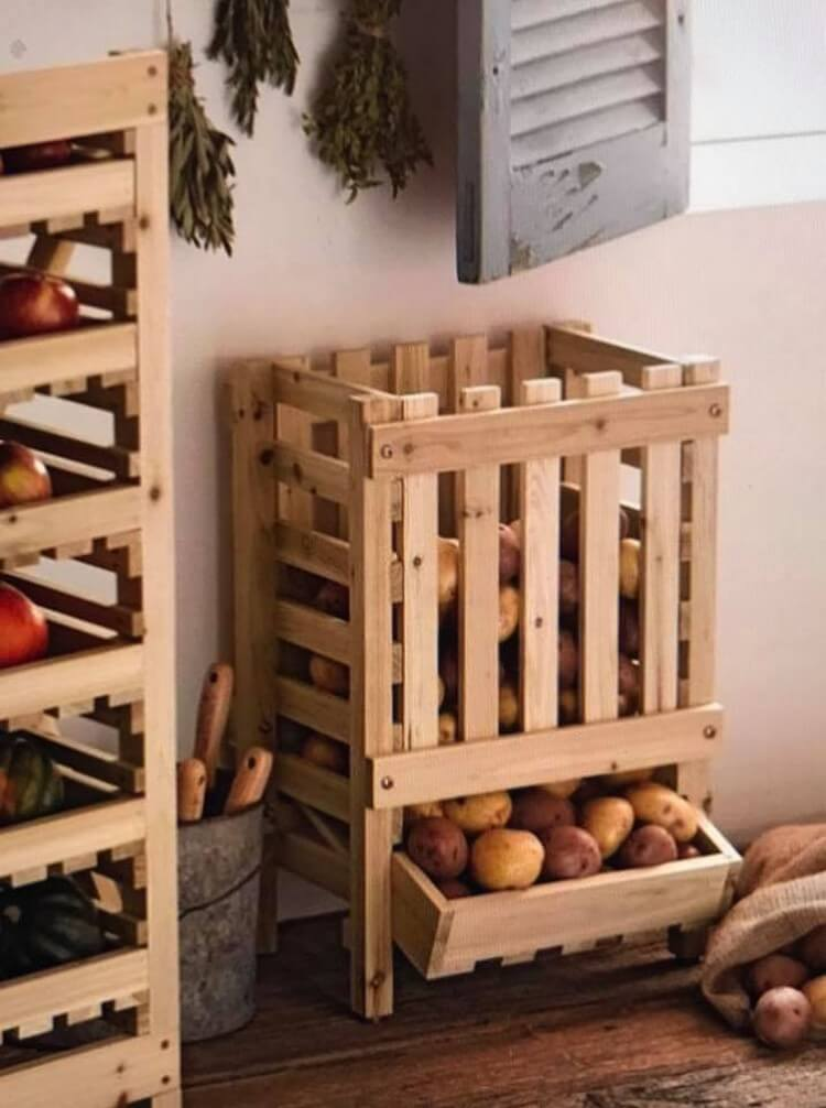 Pallet Vegetable and Fruit Storage