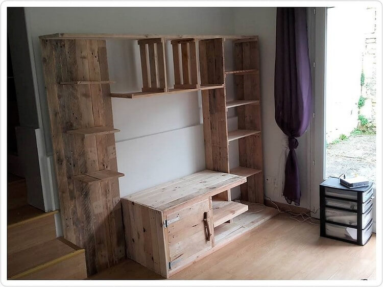 Pallet Wall Closet and Cabinet