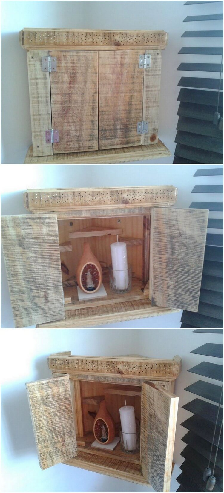 Pallet Wall Storage Cabinet