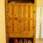 Pallet Wardrobe with Shoe Storage