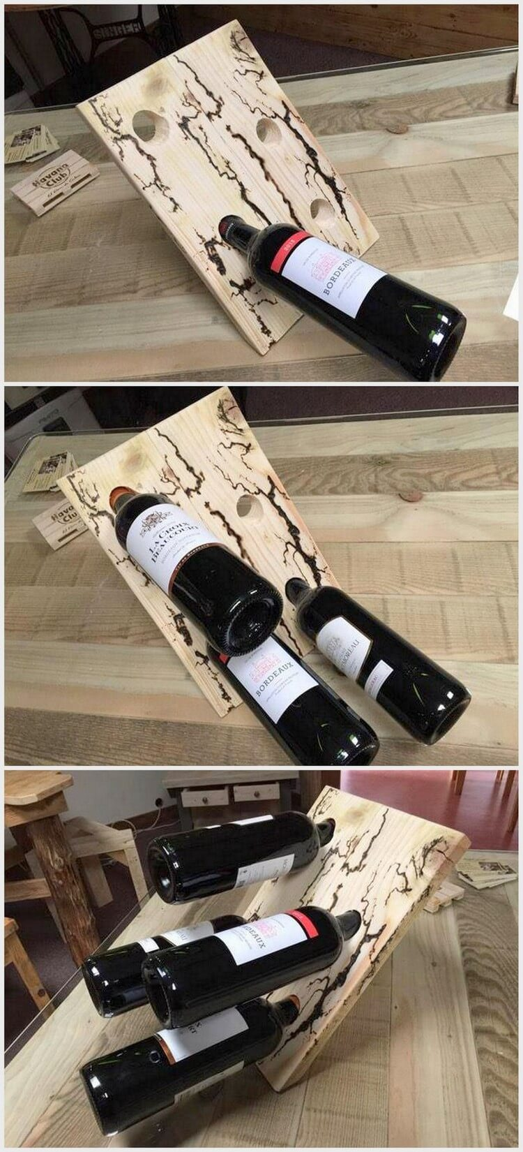 Pallet Wine Bottles Holder