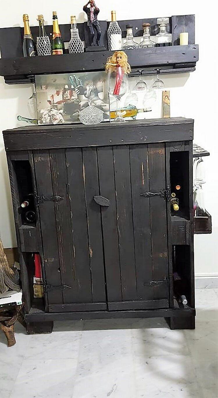 Pallet Wine Rack and Wine Storage Cabinet