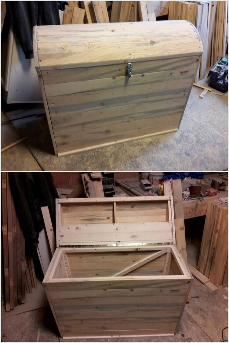 Pallet Wood Storage Box