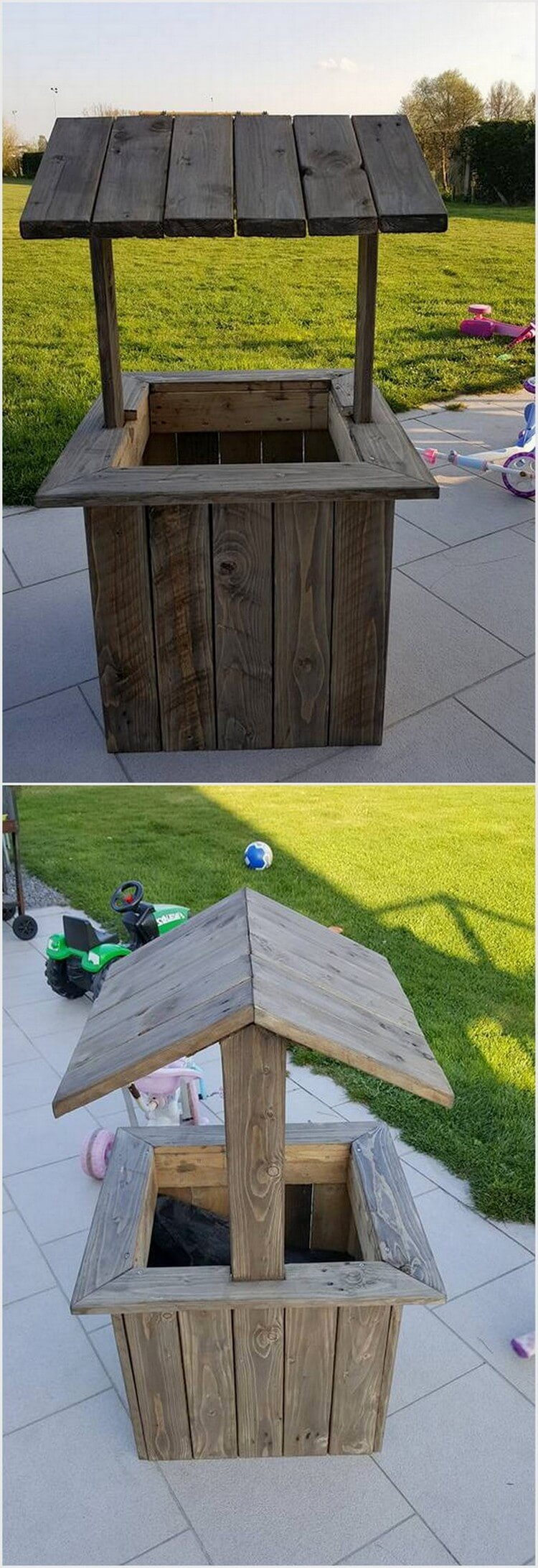 Recycled Pallet Creation for Garden