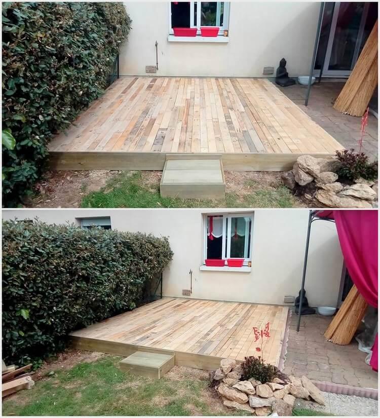 Recycled Pallet Garden Deck
