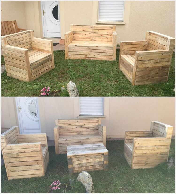 Low budget achievements with old wood pallets pallet for Low budget furniture