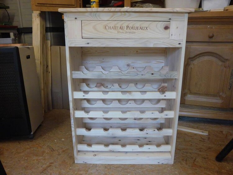 Recycled Pallet Wine Rack Plan