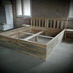 Recycled Wood Pallet Bed Frame