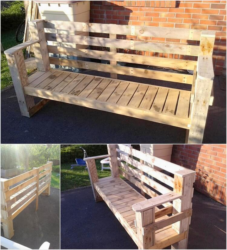 Recycled Wood Pallets Bench