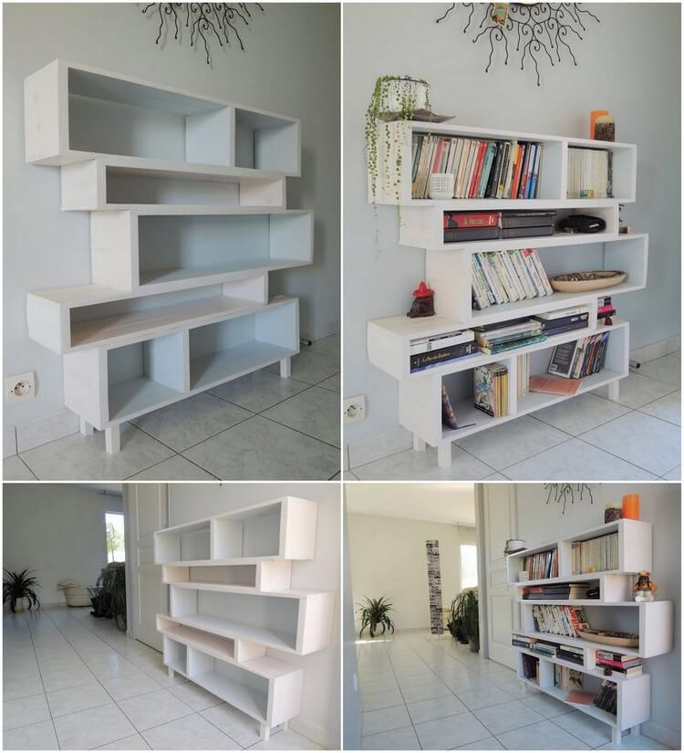 Recycled Wood Pallets Made Bookshelf