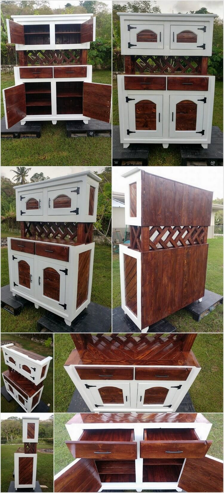 Recycled Wood Pallets Made Hutch
