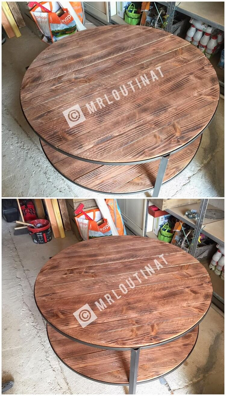 Round Wood Pallet Table