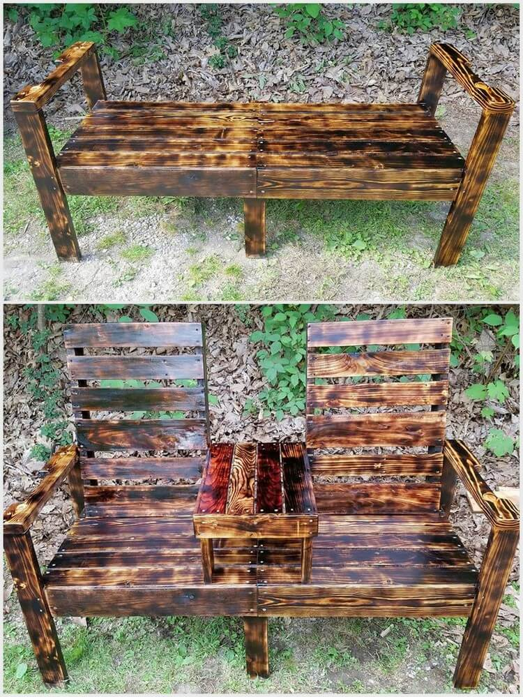 Unique Wooden Pallet Bench