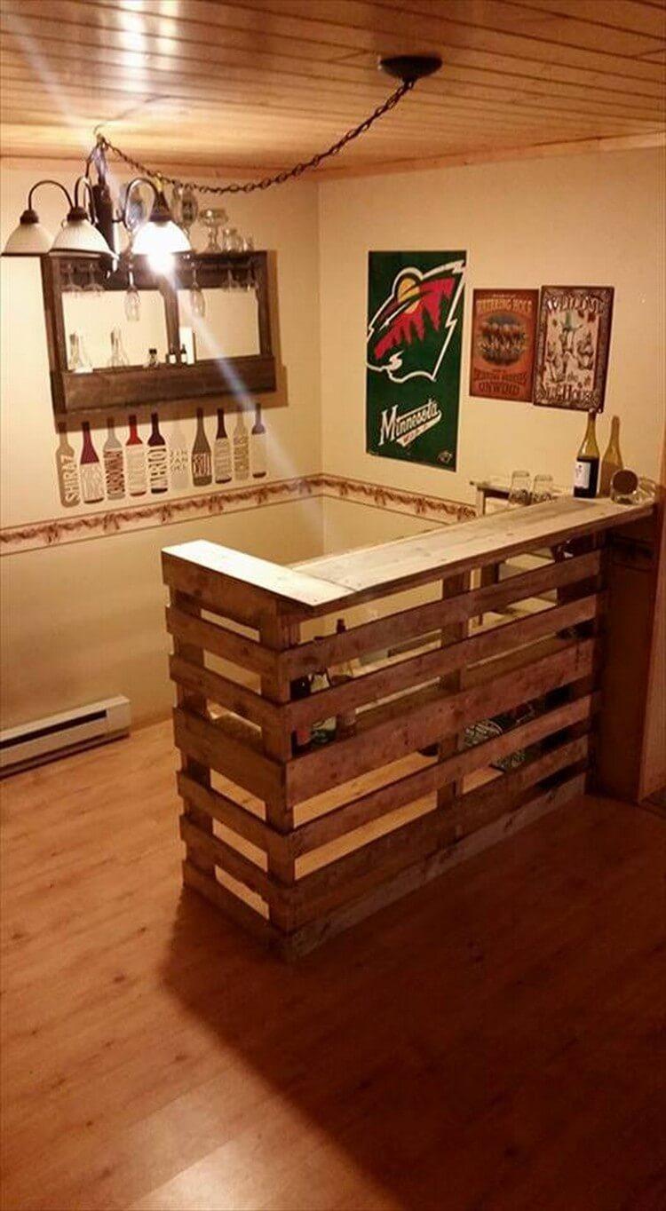 Wood Pallet Bar Counter