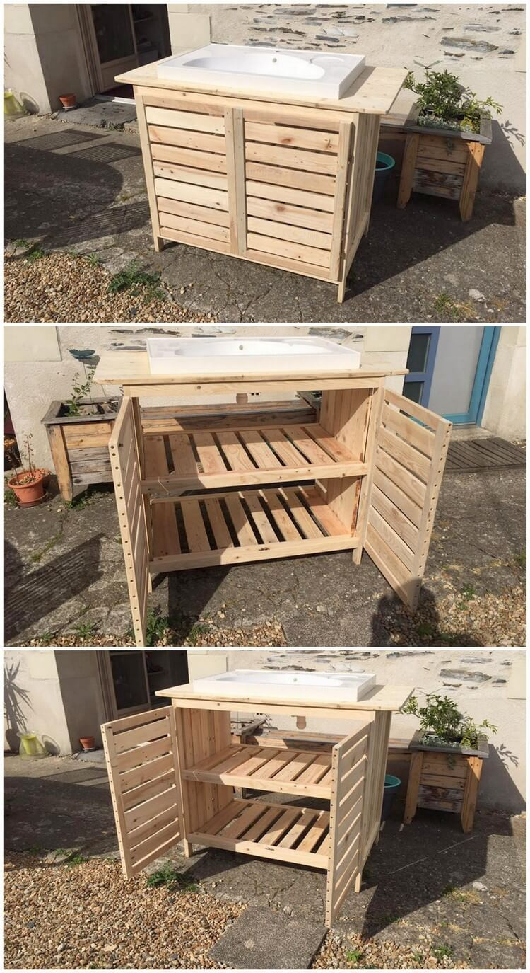 Wood Pallet Bathroom Furniture