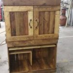 Wood Pallet Computer Table or Cabinet