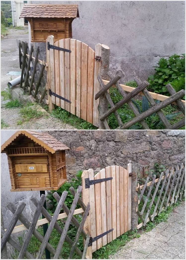 Wood Pallet Fence Gate