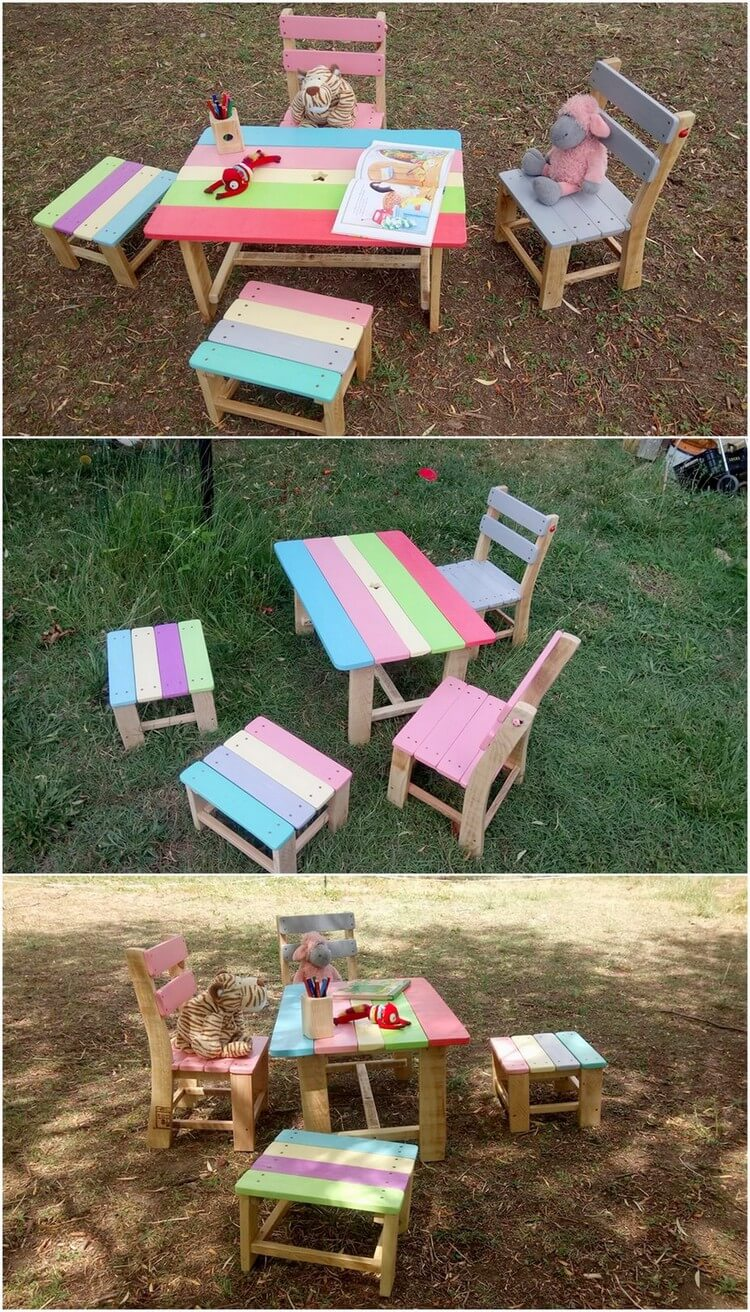 Wood Pallet Kids Furniture