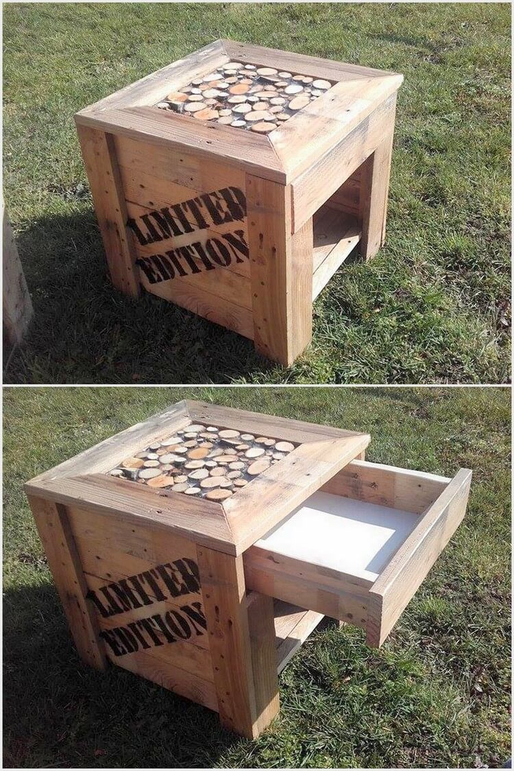 Wood Pallet Nightstand