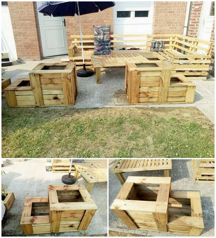 Wood Pallet Outdoor Furniture and Planters