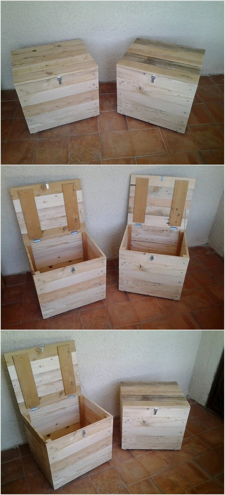 Wood Pallet Storage Boxes