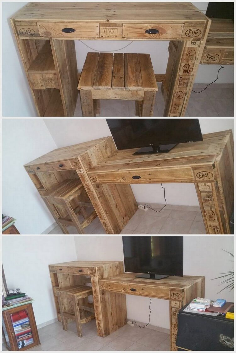 Wood Pallet Study Table and Computer Table