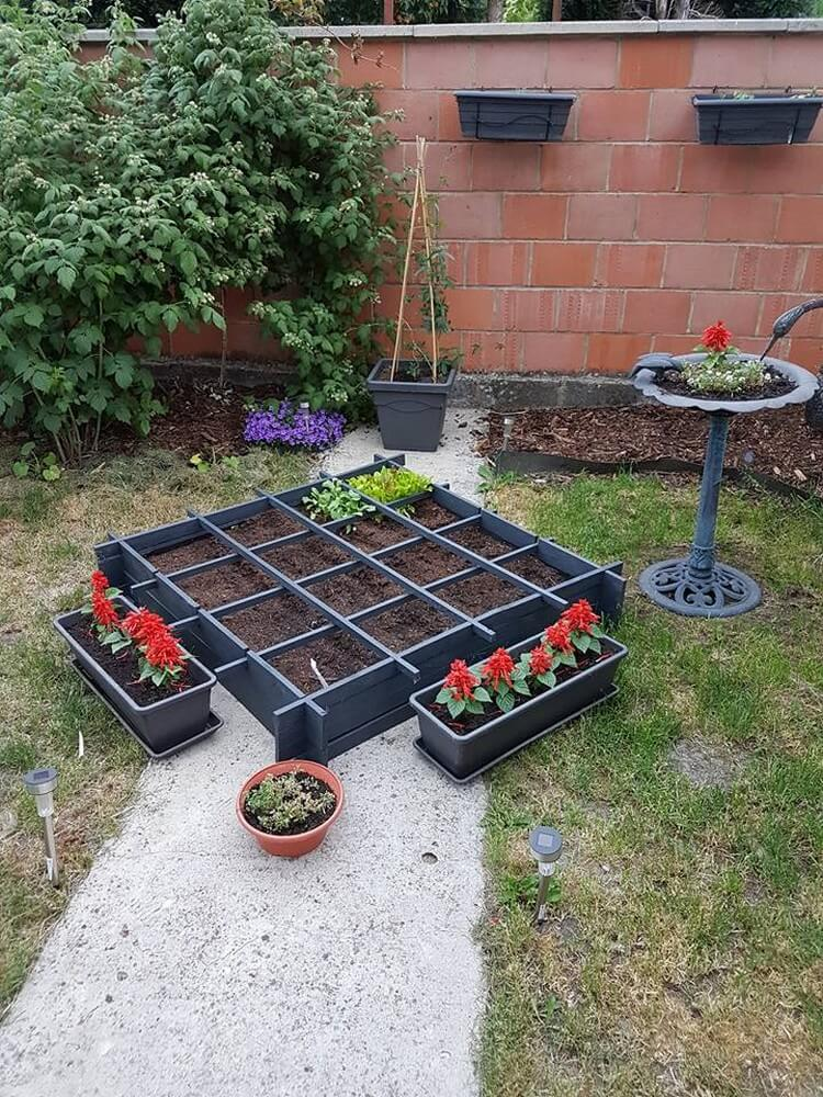 Wood Pallet Vegetable Garden