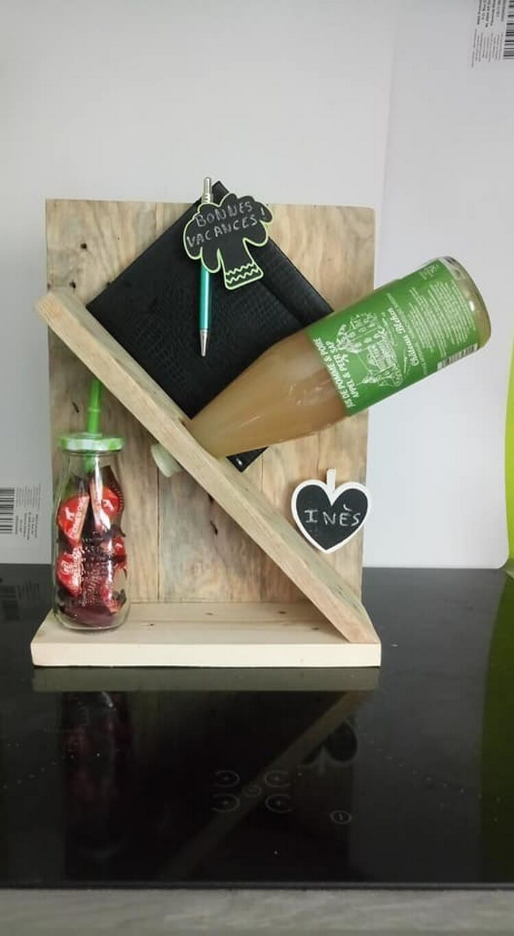 Wood Pallet Wine Holder