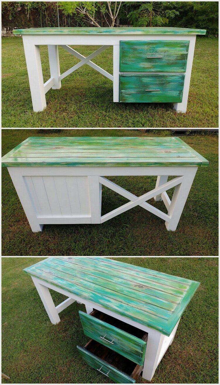 Wood Pallets Made Desk