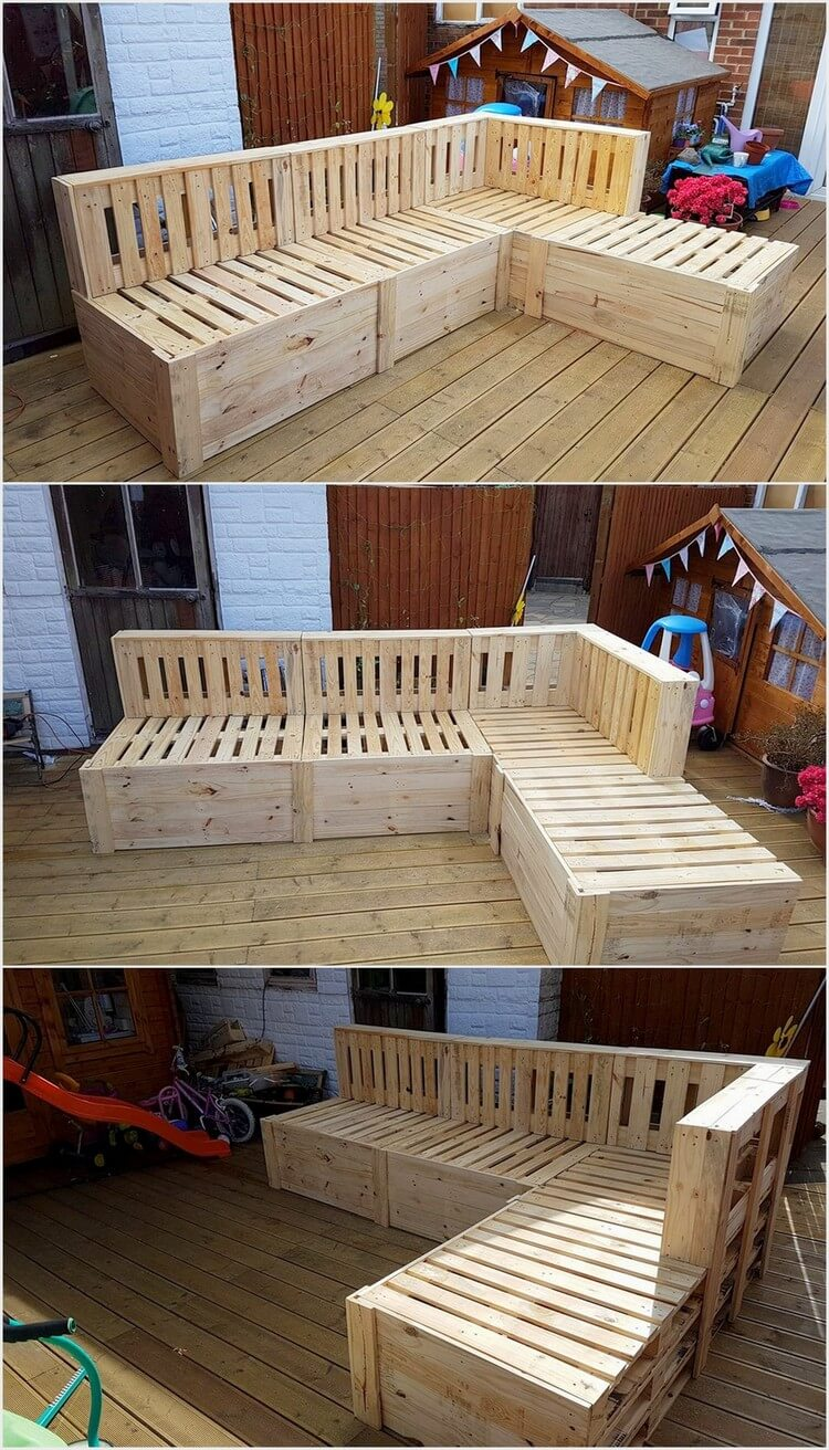 Wooden Pallet Corner Couch