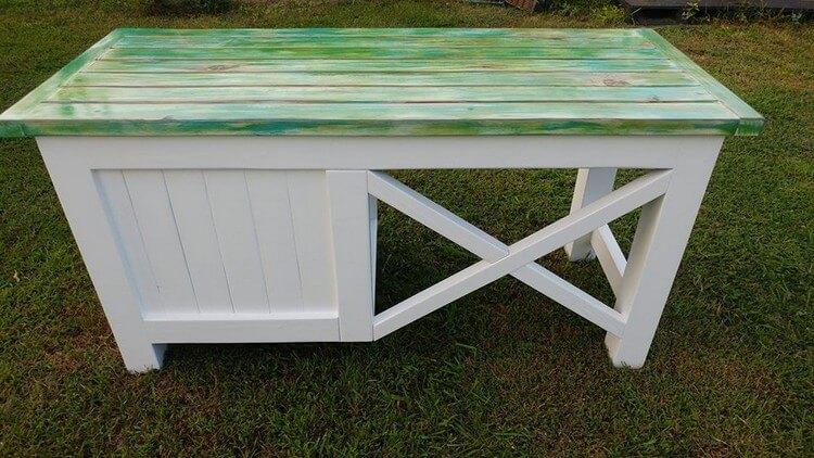 Wooden Pallet Desk