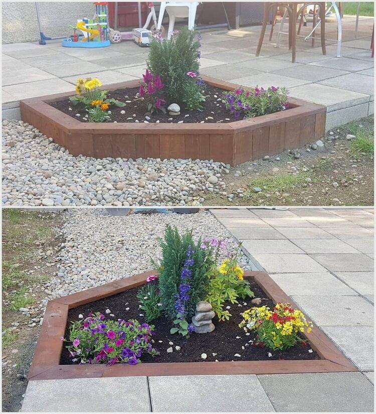 Wooden Pallet Garden Bed