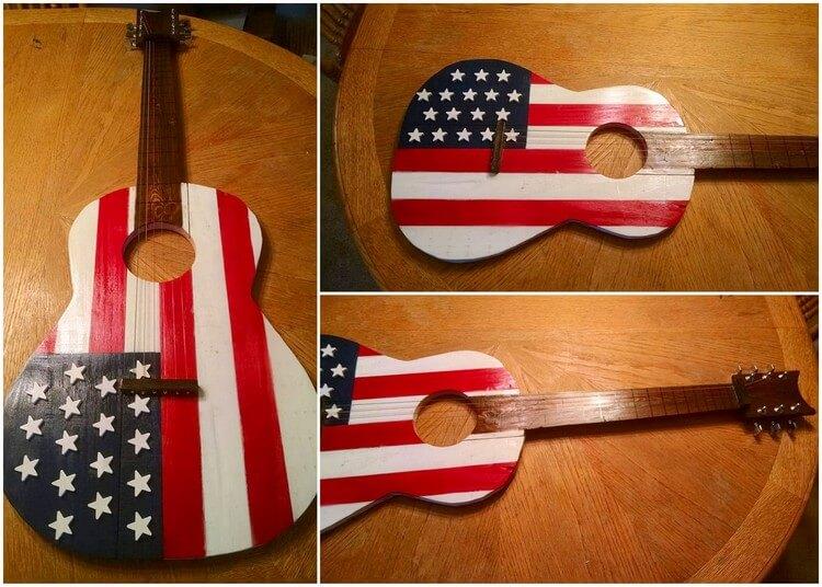 Wooden Pallet Guitar