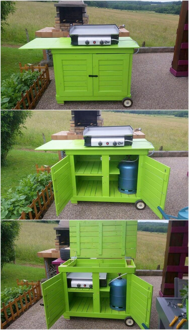 Wooden Pallet Mobile Kitchen