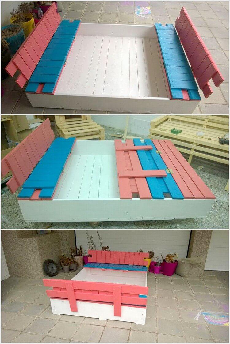 Wooden Pallet Sandbox