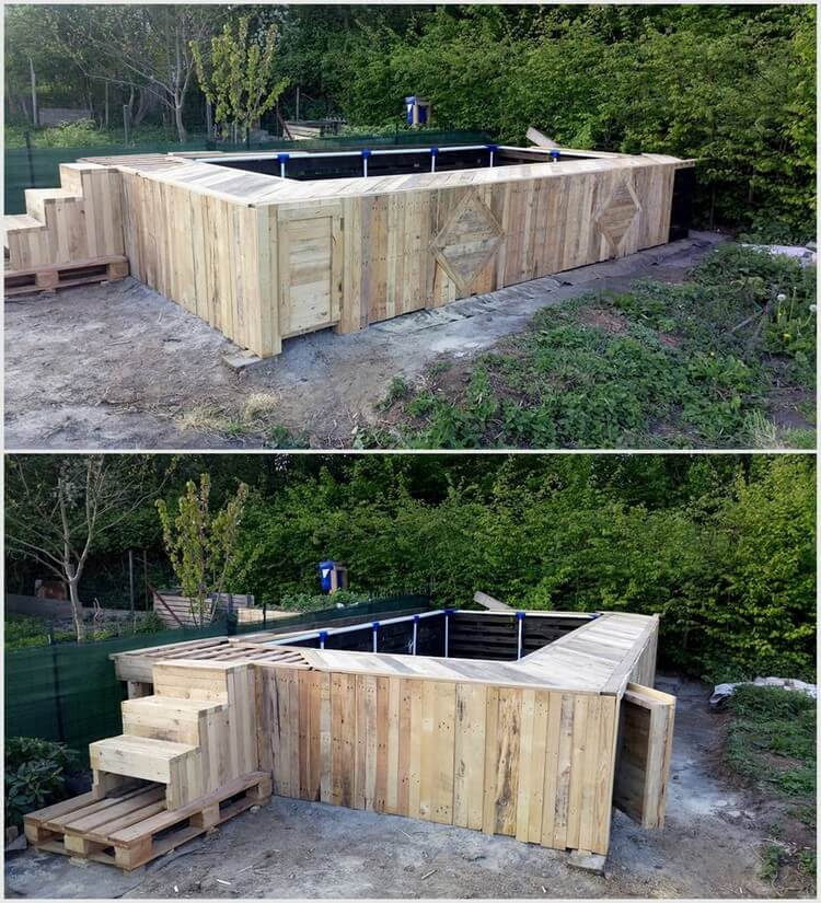 Wooden Pallet Swimming Pool
