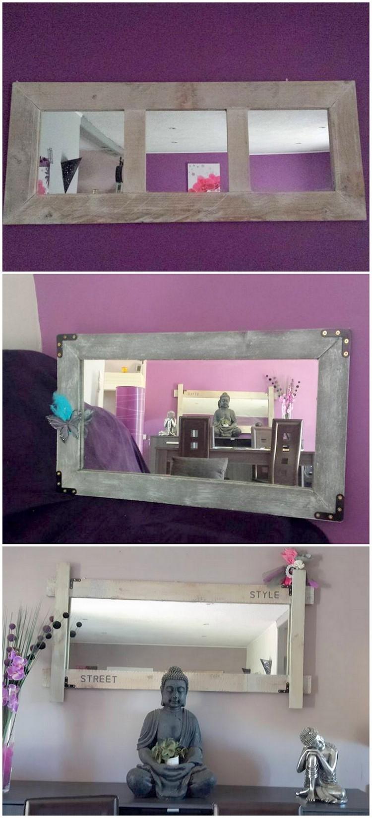 Wooden Pallet Vanity Mirror